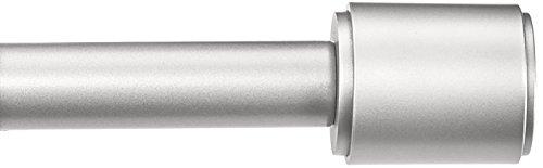 AmazonBasics 1' Curtain Rod with Cap Finials, 36' to 72', Nickel