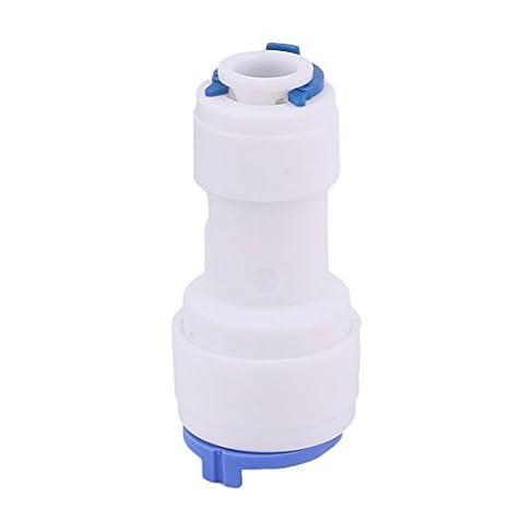 DealMux plástico del hogar del dispensador del agua del filtro adaptador de conector rápido de 9