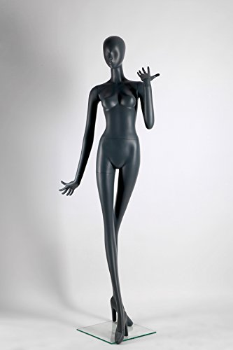 Female Full Body Fiberglass Mannequin Abstract Style, Grey Color (ados3) by Only Mannequins®