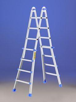 Escalera Telescópica multifuncional de aluminio Topika Svelt 8 + 8 Peldaños: Amazon.es: Bricolaje y herramientas
