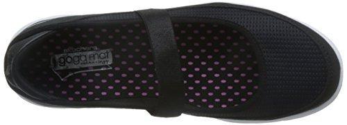 Zapatillas Mujer Skechers Go Walk Go Step Original Negro / Blanco