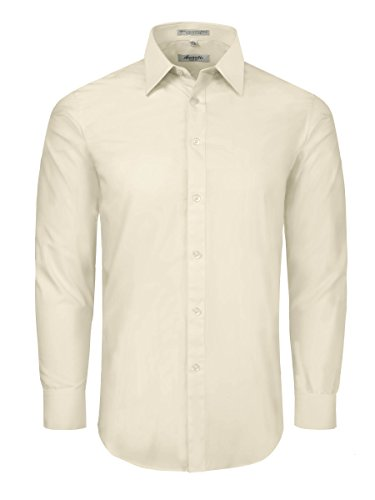off white dress shirt - 1