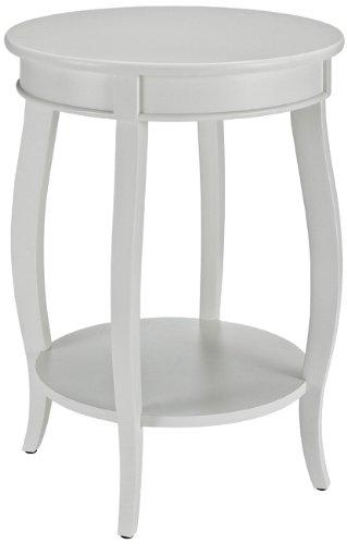 Amazon.com: Powell Furniture Round Table with Shelf, White: Kitchen ...