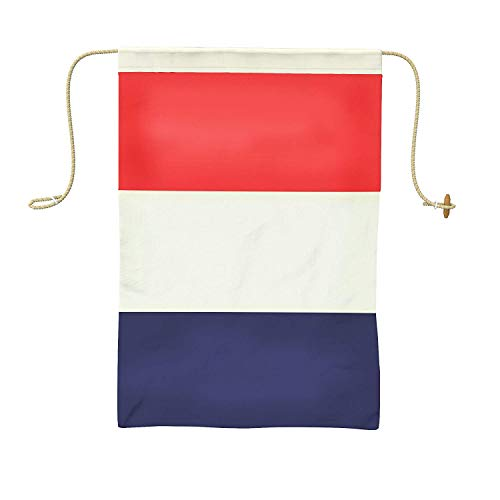 Ships Chandlery Nautical Flag | Maritime Alphabet Signal Flags; 19.5 inches Handsewn Double-Sided Cotton Fabric Decor (Letter T)