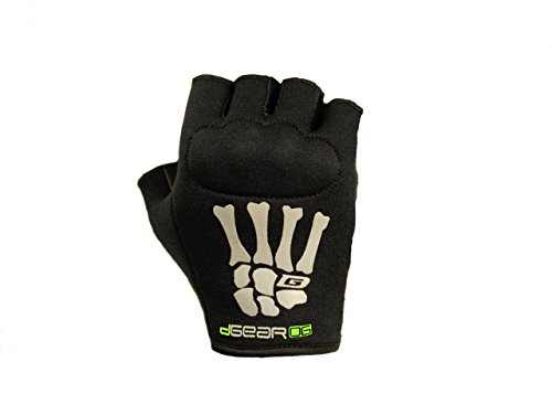 Damascus Protective Gear OG20KLG DGearOG Men's Obstacle Course Racing Half-Finger Knuckle Gloves, Black, Large
