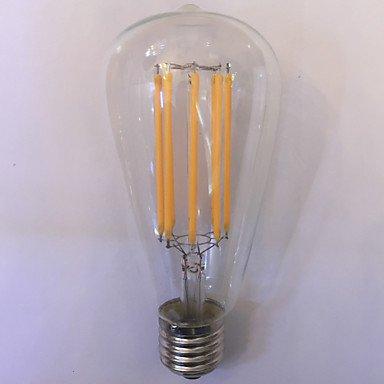 ZLL 1 Stück kwb E26/E27 10W 8 COB 1000 lm Warmes Weiß / Bernstein ST64 Vintage LED Glühlampen AC 85-265 V Incandescent lamp