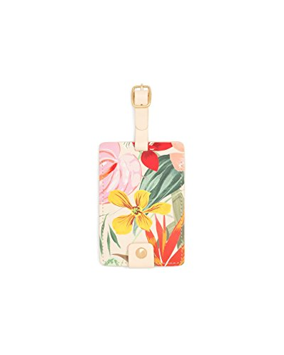 Ban.do Women's Getaway PU Leather Floral Luggage Tag with St