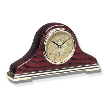 US Naval Academy - Napoleon II Mantle Clock - Academy Table Lamp