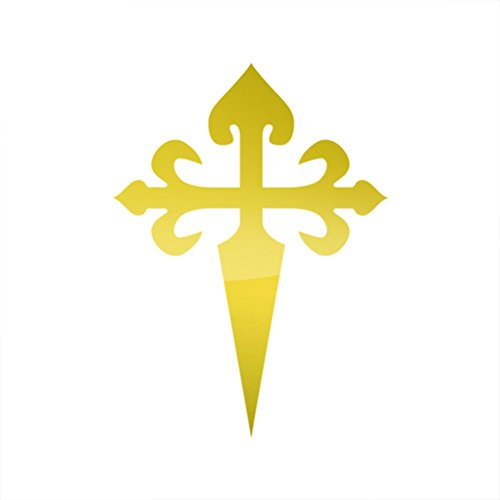 RDW Metallic St. James Santiago Sticker Die Cut Maltese Cross - Gold