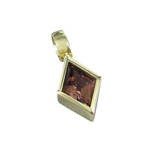 Michel de bijoux pendentif pour femme Or 585avec Rose Tourmaline 1,7carats (JM37)