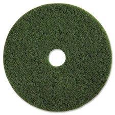 "Genuine Joe 90313 Scrubbing Floor Pads, Hvy-Dty, 13"", 5/CT, Green"