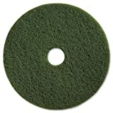Genuine Joe 90313 Scrubbing Floor Pads, HVY-Dty, 13'', 5/CT, Green
