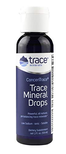 Concentrace Trace Mineral Drops. Magnesium, Chloride, Potassium. Ionic Sea Minerals from the Great Salt Lake in Utah. Hydration. Electrolyte. Performance. Energy. No sugar. 2 oz bottle.