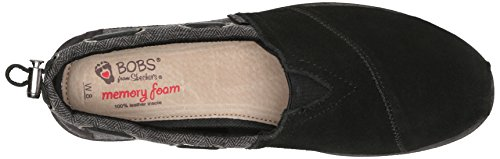 Skechers Bobs Fra Kvinders Chill Luxe Flad Sort / Grå c1p71y