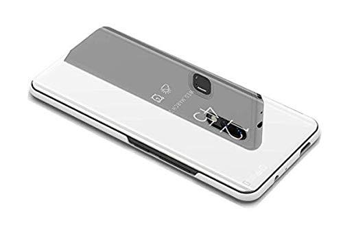 yuehuanyi Clear View Standing Cover Plating Mirror PC Leather Funda Carcasa Caso Case para Xiaomi Redmi 6 Pro/Xiaomi Mi A2...
