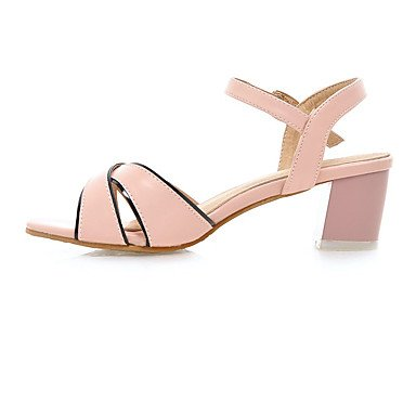 LvYuan Mujer Sandalias Zapatos formales Semicuero Primavera Verano Vestido Fiesta y Noche Zapatos formales Tacón RobustoBlanco Azul Rosa Blue
