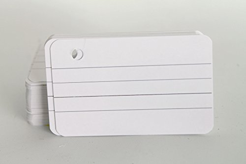 Thick Mini Punched 100 Study Cards, White with Ring