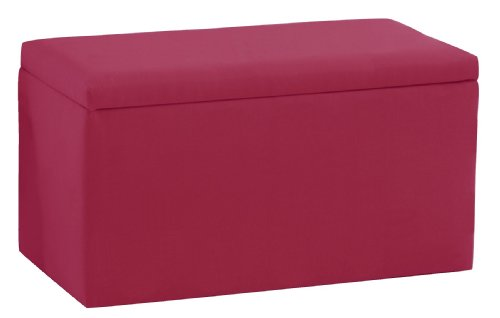 Smarty Pants Kid'S Storage Bench By Skyline Furniture In French Pink Cotton by Skyline Furniture