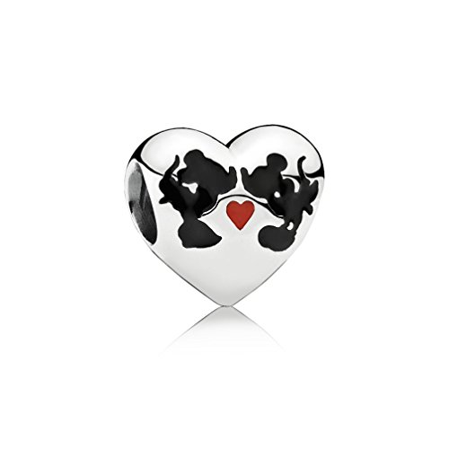 Kiss Disney (Qinger Disney Charm Minnie and Mickey Kiss For Pandora Bracelet Beads 791443ENMX)