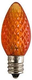 LED C7 Bulb E12 Candelabra Base 130V 0.37W LED PURPLE HALLOWEEN PACK OF 6