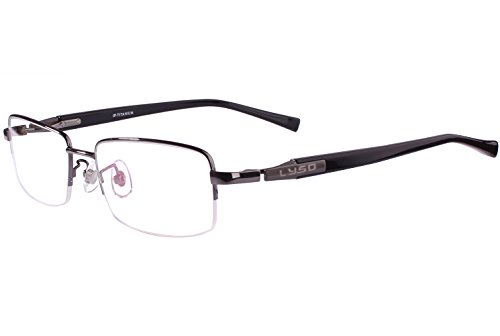 Agstum Titanium Half Rim Glasses Frame Prescription 55-18-145 - Rim Eyeglasses Half