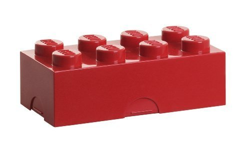 LEGO Lego lunch box Red 7284r [Lego block lunch box glove goods official license]