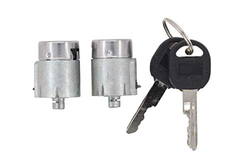 NewYall Front Left LH Driver & Right RH Passenger Side Door Lock Cylinder w/ 2 Keys