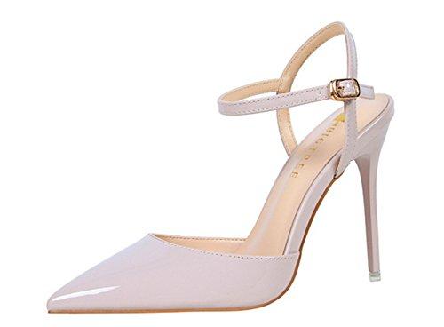 Manyis Mode Nouvelles Femmes A Souligné Toe Stilettos Chaussures De Mariage Cheville Strapes Talons Hauts Sandales Dames Chaussures De Fête Lumière Violet Nous 4