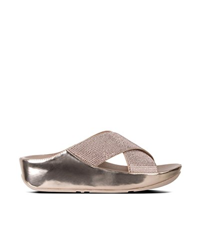 Ro Mujer Para Abierta Metallic Sandalias Punta Fitflop Crystall Con Slide Ox0ZzZ4