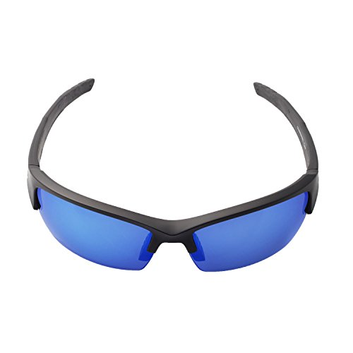 610e0b4572 Walleva Polarized Fire Red + Ice Blue Replacement Lenses For Wiley X Valor  Sunglasses