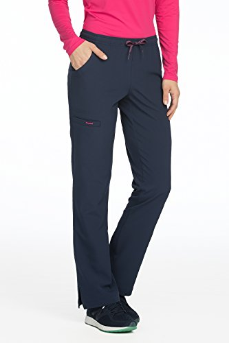 Med Couture Women's 'Air Collection' Cloud 9 Scrub Pant, New Navy/Tango Pink, XX-Large New Couture Collection