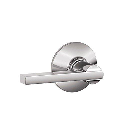 Handles Schlage Door Lever (Schlage F10 LAT 625 Latitude Passage Lever, Bright Chrome)