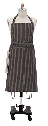 Kay Dee Designs Pin Striped Oversized Apron, Charcoal