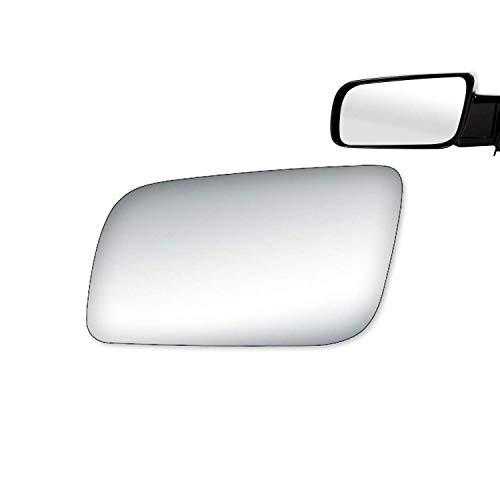 WLLW Mirror Glass Replacement for CHEVY GMC 1990's – 2000's Truck Left LH Driver Side