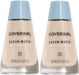 (COVERGIRL Clean Matte Liquid Foundation,1 ounce - Ivory 505 (2 Pack))
