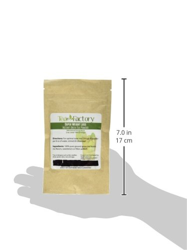 Instant Green Tea Powder - 100% Pure Tea - No Fillers, Additives or Artificial Ingredients of Any Kind 11 ✔ THE BEST GREEN TEA POWDER TO LOSE WEIGHT: Scientific studies have discovered that the main ingredients responsible for green tea slimming effects are caffeine and EGCG (epigallocatechin gallate). ✔ ONE SINGLE INGREDIENT: 100% pure green tea made from ground tea leaves. No flavors, preservatives, colors or fillers of any kind added. Not the diluted, off-tasting chemical filled product you're used to buying in the supermarket. This is as pure as it gets! ✔ HEALTHY ALTERNATIVE TO COFFEE: Minimally processed, and free of additives, Tea Factory Instant Green Tea offers a delicious, easy to consume instant tea that contains over one hundred times more antioxidants as compared to brewed tea.