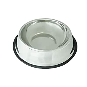 Stainless Steel Dog Bowl - Rust Resistant with Slip-Free Rubber Base, Puppy or Dog Bowl, Size Large… (One Pack)