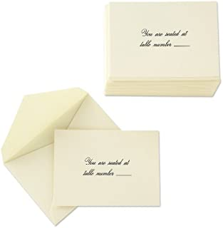 product image for Crane & Co. Ecruwhite Script Text Table Cards (CC0216)