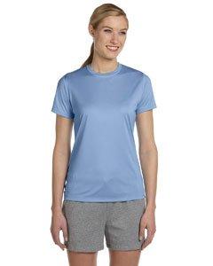 Hanes Women's Cool DRI® T-Shirt, Light Blue, Size (Cool Womens Light T-shirt)