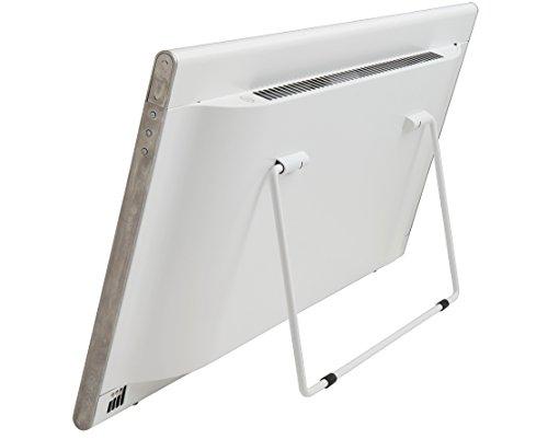 Radiador eléctrico Bendex LUX blanco, 600W, Clase II Aislamiento reforzado IP24 para baños, soporte pared y de suelo intergrado dos en uno, bajo consumo ...