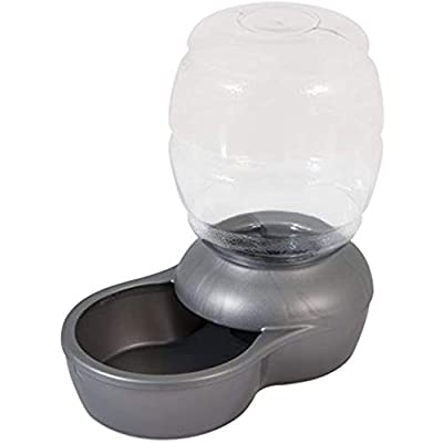 Petmate Replendish Waterer with Microban 0.5 Gallon Pearl Silver Grey