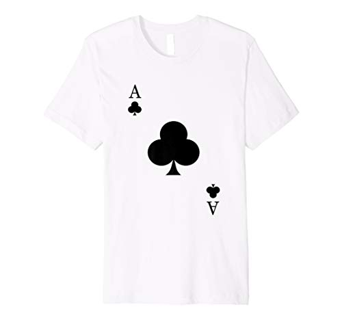 Ace Of Clubs Costume Shirt - Funny Halloween Gift Tshirt -