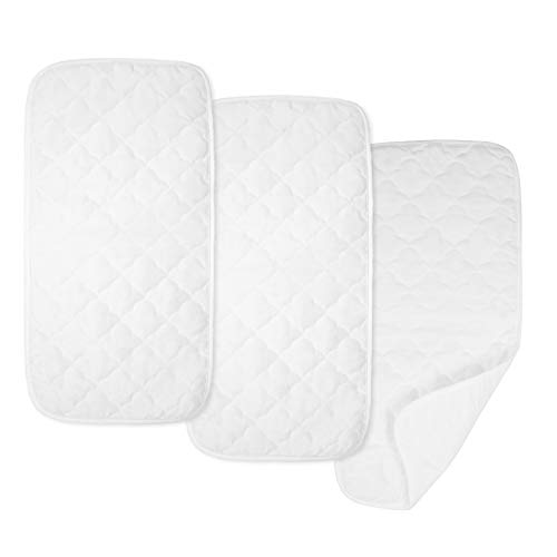 American Baby Company Ultra Soft Quilted Waterproof Changing Table Pad Liners, 3Count