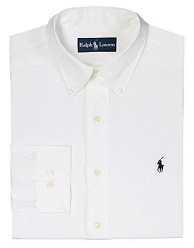 """Polo Ralph Lauren Men's Dress Shirt Pinpoint Button Collar Custom Fit (18"""" Neck 34/35"""" Sleeve)"""