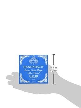 Hannabach Corde per chitarra classica Serie 815 Medium Tension Silver Special corde singole E6//Mi6