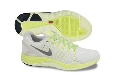 NIKE Lady Lunarglide+ 4 Running Shoes - 11 - White ()