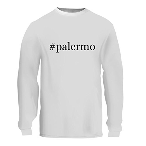 fan products of #palermo - A Nice Hashtag Men's Long Sleeve T-Shirt Shirt, White, Large