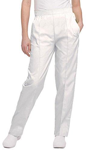Women's Classic Tapered Leg Pant (White;Petite/X-Large)