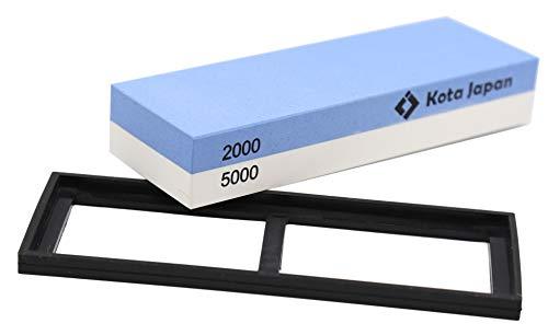 Kota Japan Combination Dual Sided 2000-5000 Grit Diamond Knife Sharpener Whetstone   Water Stone Kit for Coarse Sharpening & Fine Polishing