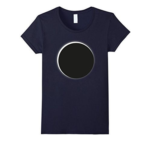 Price comparison product image Womens Totality 2017 Solar Eclipse Fan Shirt Small Navy